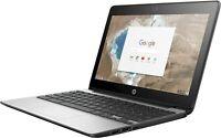 "HP G5 Chromebook OS Laptop 11.6"" Black 16GB SSD 4GB USB 3.0 HDMI WiFi Webcam"