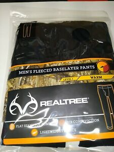 Mens Realtree Fleeced Baselayer Pants Level 1 Warm XL Flat Seam Ribbed