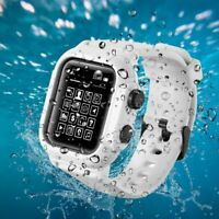 Premium Silicone Waterproof Watch Band For Apple Watch Series 4 3 2 1 42mm/44mm
