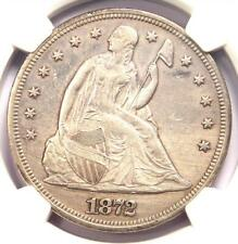 1872 Seated Liberty Silver Dollar $1 - NGC AU Details - Rare Early Date Coin!