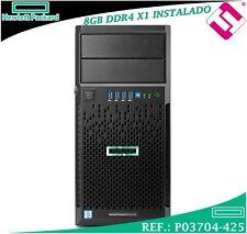 Server HP Enterprise Microserver ML30 GEN9 E3-1220V6 1P 3,0GHZ 8GB DDR4 B140I