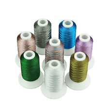 SIMTHREAD Metallic Embroidery Machine Spools Thread - 8 Pearl Colors, 400M Each