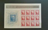 George Washington Souvenir Sheet; 1997 Scott# 3140;12-60c; Reproduction U.S # 2