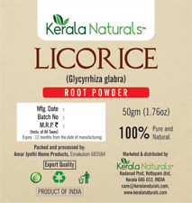 100% Herbs Natural Liquorice Licorice Root Powder / Mulethi / Yashtimadhu Powder