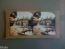 STC356 Amérique Paysage Wisconsin couleurs STEREO Photography Stereoview