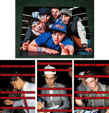 THE JANOSKIANS signed 8X10 PHOTO (A) - PROOF - Luke Brooks, James, Daniel COA