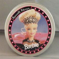 1999 Happy Holidays Barbie Russell Stover Collectible Oval Metal Tin Container