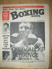 BOXING NEWS MAY 4 1973 GEORGE CHUVALO DESERVES HIS CHANCE AT COMMONWEALTH TITLE