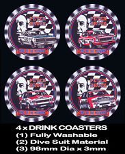 4  x  HOLDEN PETER BROCK, MONARO TORANA COMMODORE, MOUNTAIN KING, DRINK COASTERS