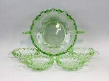 99835053 Light Green Glass Dessertgarnitur Art Déco um 1930