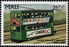 HONG KONG TRAMWAYS Double-Decker Tramcar No.142 Electric Train Stamp