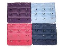 4 pcs (D. Blue, Pink, Skyblue, Violet) 3 rows, 3 hooks BRA EXTENDER