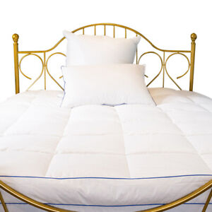 Luxury Cotton White 5cm Thickness Goose Down Fill Mattress Topper Foldable Mats
