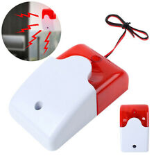 Mini Indoor Wired Strobe Siren Warning Signal Horn Alarm System Flashing Light