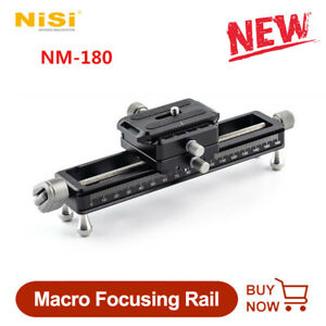 NiSi NM-180 Macro Focusing Rail Slider Video Recording Portable Desktop for DSLR