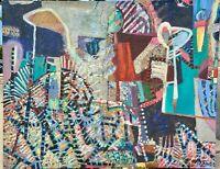 GAYLE NOVAK Listed Arizona Artist HUGE Abstract Expressionist Modern Vintage Oil