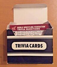 WWF Trivia Game Cards World Wrestling Federation Trivia Cards WWE Vintage 1998