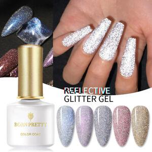 BORN PRETTY 6ml Holographics Glitter Nail Gel Varnish Auroras Holo Soak Off Gel