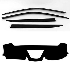 Weather Shields w/ Dash Mat Covers for 2019 2020 Ssangyong Musso EX ELX ULTIMATE