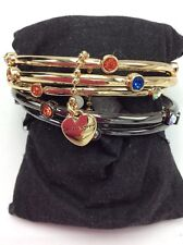 $65 Betsey Johnson Two Tone Confetti 5 Piece Bangles With Stones