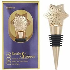 New listing Pack Of 3 Snowflake Wine Stoppers, Reusable Bottle Stopper, And Beverage Gifts