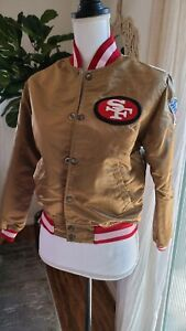 Vtg SF 49rs NFL STARTER Youth SATIN Jacket *flaws see pics*