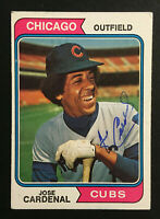 Jose Cardenal Cubs signed 1974 Topps baseball card #185 Auto Autograph