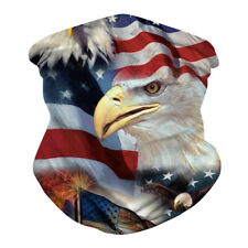 3D Printed Face Mask US Flags Eagle Scarf Neck Gaiter Riding Outdoor Bandana