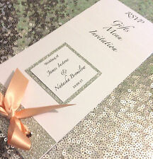 New Cheque book Design Wedding/Evening Invitation! Bespoke designs x 25