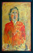 Gerhard Elsner 1930-2017: FEMME ESPAGNOLE après GOYA peinture huile 77 x 46 cm Femmes effigie