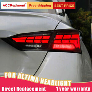 2 PCS For Nissan Altima LED Taillight Assembly Red Color LED Rear Lamp 2019-2021