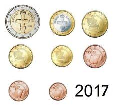 Zypern KMS 2017  -   1 Cent ---> 2 Euro