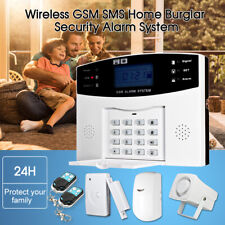 433MHz RF Wireless LCD GSM SMS PIR Burglar Alarm System Kit Home Security T8C7
