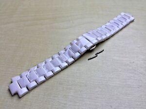 White Ceramic Strap Fits Emporio Armani AR1425/AR1426 Watch Bracelet/Band/Link