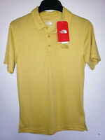 Mens The North Face Short Sleeve Plated Crag Polo Shirt New NWT Yellow Size S