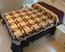 NEW! AMISH HANDMADE QUILT! ~ Double Wedding Ring ~ 107 x 120