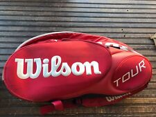 WILSON Red THERMOGUARD MOISTRUEGUARD 20 Tennis Racket Bag Cover Case with Strap