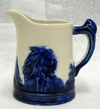 "OLD VINTAGE MONMOUTH STONEWARE SLEEPY EYE 3-1/2"" PITCHER"