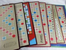 9 Scrabble Game Boards Only Rebus Craft Parts Lot Set Grab Bag Altered Art Proje