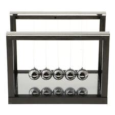 Pendulum Balance Ball Newton Cradle With Mirror Desktop Toys Game Black S