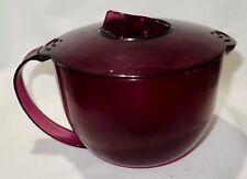 Vintage Tupperware Microplus M.I. France Purple Mix 'N Pour 4 Cup Measuring Bowl