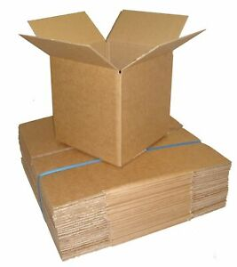 "50 SINGLE WALL  7"" x7"" x7"" QUALITY POSTAL MAILING CARDBOARD CARTONS BOXES"