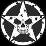 MILITARY JEEP ARMY STAR SKULL CLEAR DECAL STICKER, USMC, VINYL SIGN ART PRINT