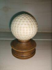 Ceramic Golf Ball Paperweight Trophy Desktop Office Den Mancave Golfer Mens Desk