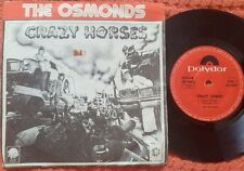 """THE OSMONDS Crazy Horses / DONNY OSMOND Too Young ISRAEL ONLY 7"""" EP"""