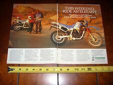 1987 CAGIVA 650 ELEFANT - ORIGINAL 2 PAGE AD