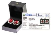 0.96 CT Natural Diamond Cobochon Ruby Stud Earrings Clerance sale