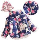 Baby Girl Toddler Winter Warm Fleece Coats Flower Princess Down Jacket Outwear