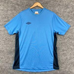 Umbro Mens T-Shirt Size Medium Blue Short Sleeve Crew Neck Stretch 155.18