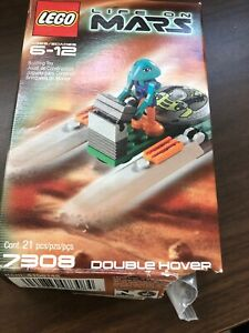 Lego life on Mars building toy double hover #7308 W/ Instructions figure